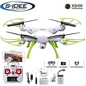 s-idee® 01632 X5HW Quadrocopter Syma Wifi HD Kamera FPV Höhenstabilisierung, Headless Mode VR möglic